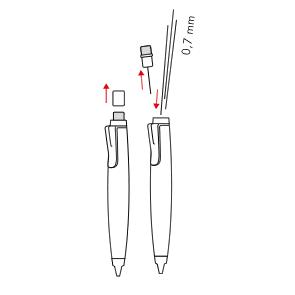 Schimbarea minei - LAMY scribble 0,7 mm